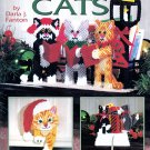 CHRISTMAS CATS PLASTIC CANVAS #3158 AM. SCHOOL NEEDLEWORK CAT DECORATIONS