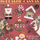 MORE CHRISTMAS CUTIES - ORNAMENTS PLASTIC CANVAS LEISURE ARTS 1587 SANTA ANGEL