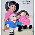 KNIT BOY GIRL CABBAGE PATCH DOLL CAP SWEATER PANTS MARY JANE SHOES PATONS 1031