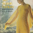 KNIT CROCHET BERNAT SUN SEASON FASHIONS BIKINI DRESSES TOPS SUITS MEN ALSO 46 PG