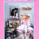 "CROCHET GOLDILOCKS 13"" BED DOLL CLOTHES FIBRE CRAFT 1988 PATTERNS OOP"