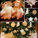 CHRISTMAS SNOWMAN, ORNAMENTS, ANGEL, TREE SKIRT +  BUTTERICK 3682 PATTERN UNCUT