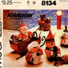 CHRISTMAS HUGACHUM DOLLS SANTA ELF REINDEER SNOWMAN MCCALL 8134 PATTERN OOP MINT