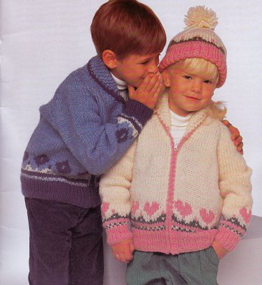 FUN & GAMES KNITS FOR KIDS BEEHIVE PATONS 480 CHUNKY WORKS UP QUICKLY