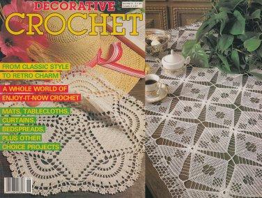 DECORATIVE CROCHET 1988 BEDSPREADS, CURTAINS, MATS, TABLECLOTHS, RUNNERS + #6
