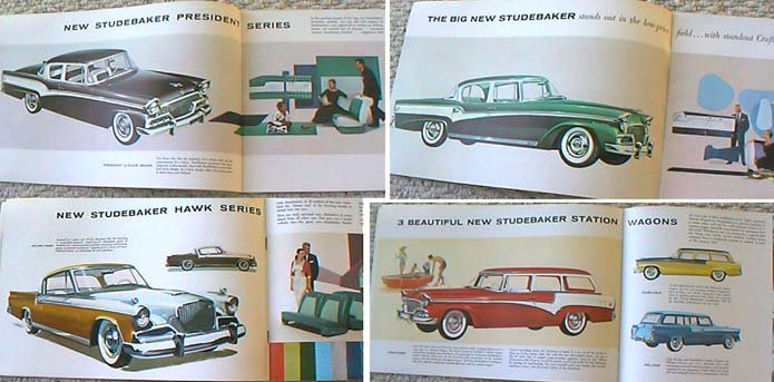 56 Studebaker sales brochure NICE full color!