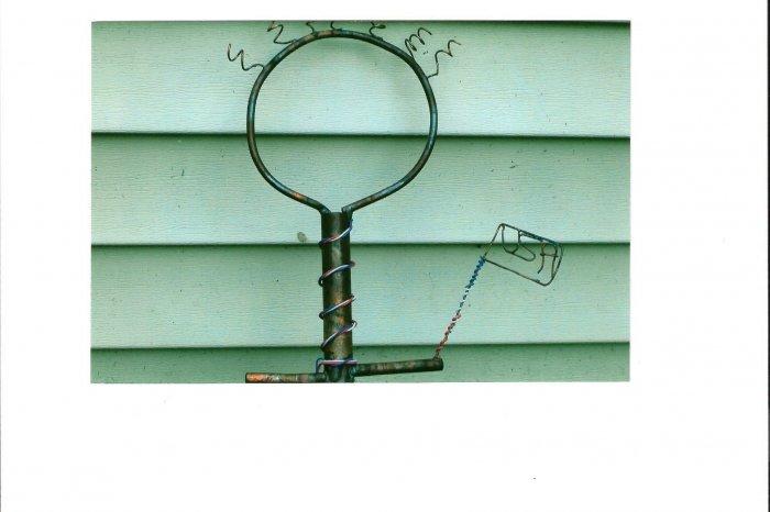 Little Patroit    copper yard art