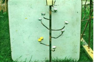 Candle Tree  copper yard art
