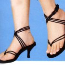 NLS-AMI Black High-Heeled Sandals