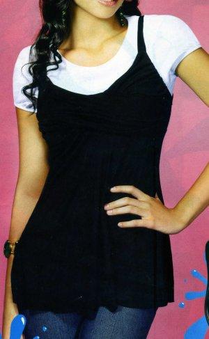 NLW-KIM Black Sleeveless Tunic Top