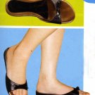 NLS-CLE Black Low Heeled Sandals