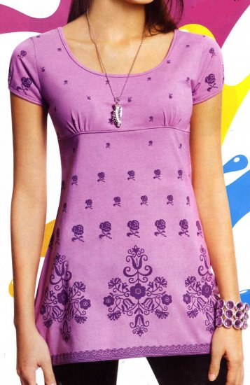 NLW-BET Lilac Baby Doll Tunic Shirt