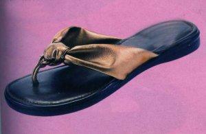 NLS-ROJ Flat Bronze Sandals