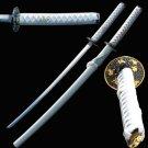 White Monk Warrior Samurai Sword