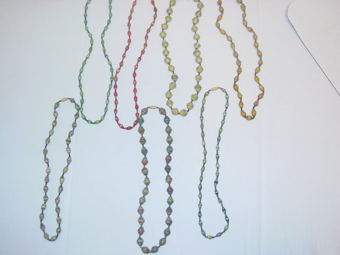 Handmade Paper Bead Necklaces- Short
