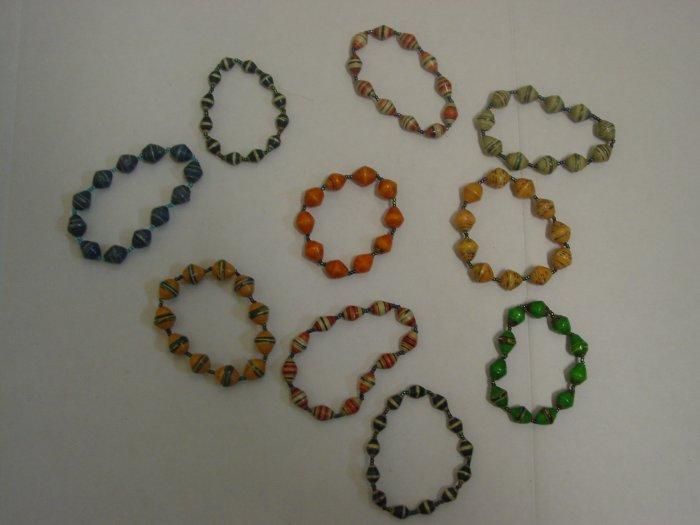 Handmade Paper Beads Bracelets
