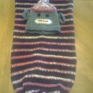Custom Knit Sock Monkey Baby Hat & Cocoon Set