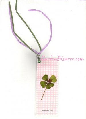 Wood sorrel Pressed Flower Bookmark -  Free Shipping