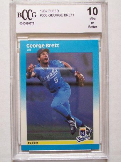 George Brett (HOF) 1987 Fleer #366 - BGS/BCCG 10 Mint