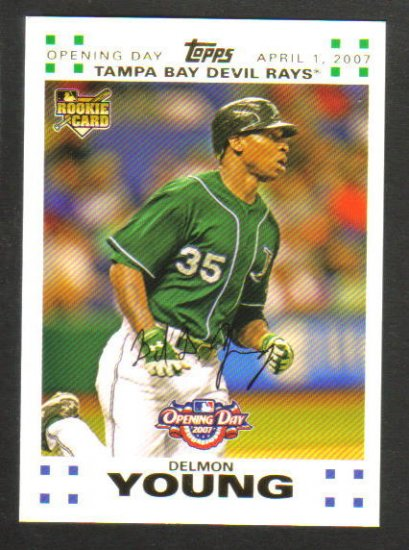 DELMON YOUNG - 2007 Topps  Opening Day GOLD Parallel - Rookie Card -  #0989/2007