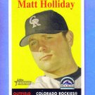 MATT HOLLIDAY -  2007 Topps Heritage #452