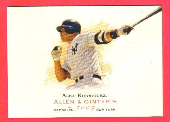 ALEX RODGRIGUEZ - 2007 Allen & Ginter #270