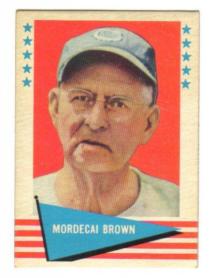 1961 Fleer Greats - MORDECAI BROWN