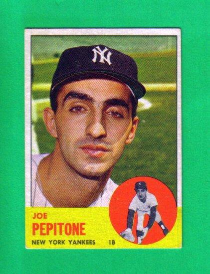 JOE PEPITONE - 1963 Topps #183 - Yankees