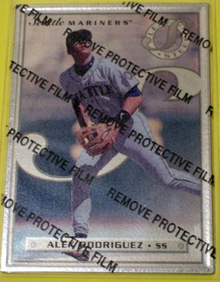 ALEX RODRIGUEZ - 1996 Leaf Steel with protective film - RARE