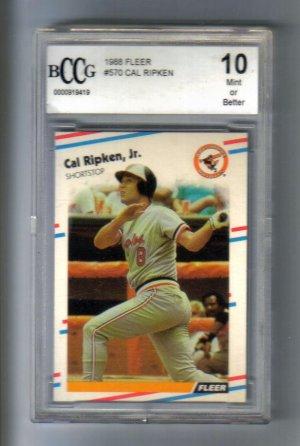 CAL RIPKEN,JR. - 1988 Fleer #570 -BGS/BCCG 10 mint or better