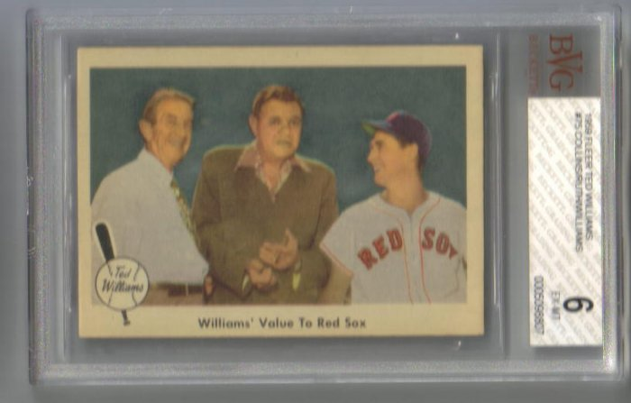 TED WILLIAMS - 1959 Fleer #75 (Collins-Ruth-Williams) BGS 6 EX-MT
