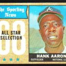 HANK AARON - 1968 Topps - All Star Selection