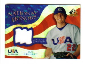 IAN KENNEDY - NY Yankees - 2004 Upper Deck SP Prospect - Game-worn jersey