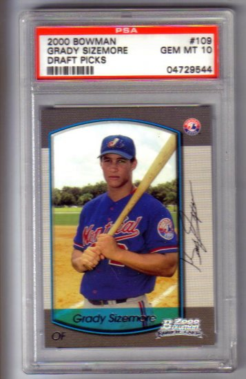 GRADY SIZEMORE - 2000 Bowman Draft Picks#109 - Rookie card - PSA Gem Mint 10