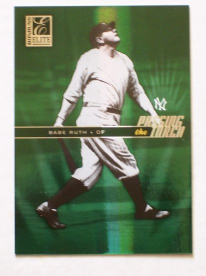 BABE RUTH and ROGER MARIS - 2004 Donruss Elite *Passing the Torch* # 101/250