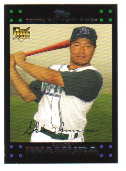AKINORI  IWAMURA - 2007 Topps #341 - Red Back