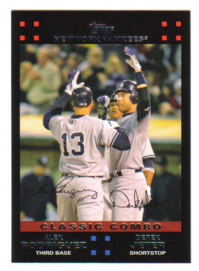 "ALEX RODRIGUEZ and DEREK JETER - 2007 Topps ""Classic Combo""  #657"