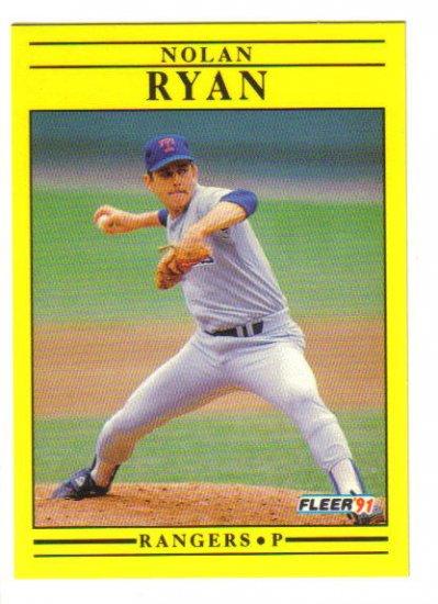 NOLAN RYAN - 1991 Fleer #302