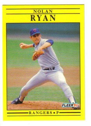 Nolan ryan 1991 fleer 302