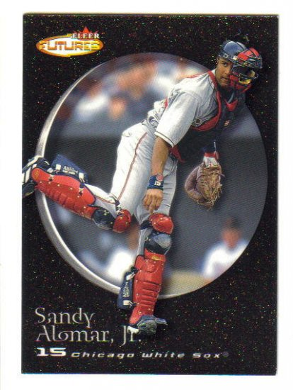 SANDY ALOMAR, Jr. - 2001 Fleer Futures BLACK GOLD #d 120/499
