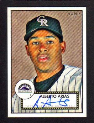 ALBERTO ARIAS - 2007 Topps 52 - Autograph