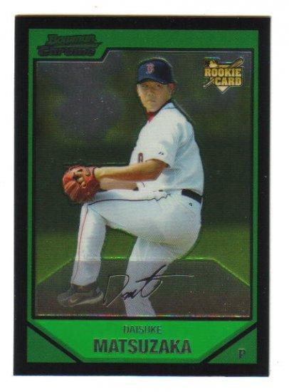 DAISUKE MATSUZAKA - Boston Red Sox - 2007 Bowman Chrome -Rookie card #210