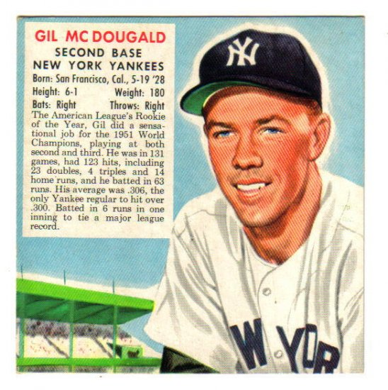 1952 RED MAN - NY Yankees - GIL McDOUGALD