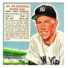 1952 RED MAN - NY Yankees - GIL McDOUGALD