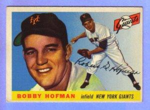 1955 Topps - NY Giants - BOBBY HOFMAN