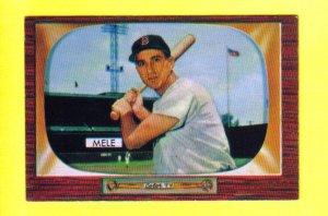SAM MELE - 1955 Bowman #147 - Boston Red Sox
