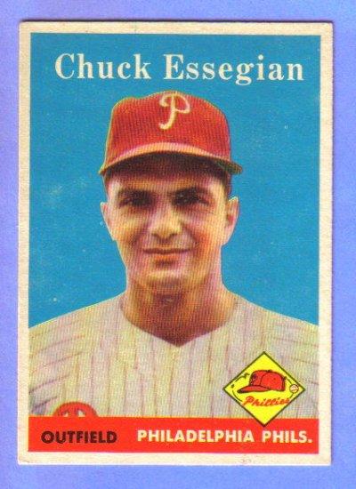 1958 Topps - CHUCK ESSEGIAN - Philadelphis Phillies