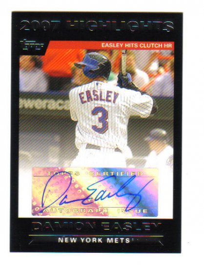 DAMION EASLEY - 2007 Topps - Autograph