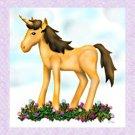 Magical Unicorn in a Flower Garden Notecards