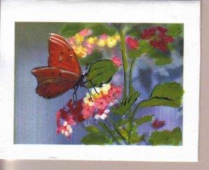 Handpainted Butterflies and Flowers Notecards